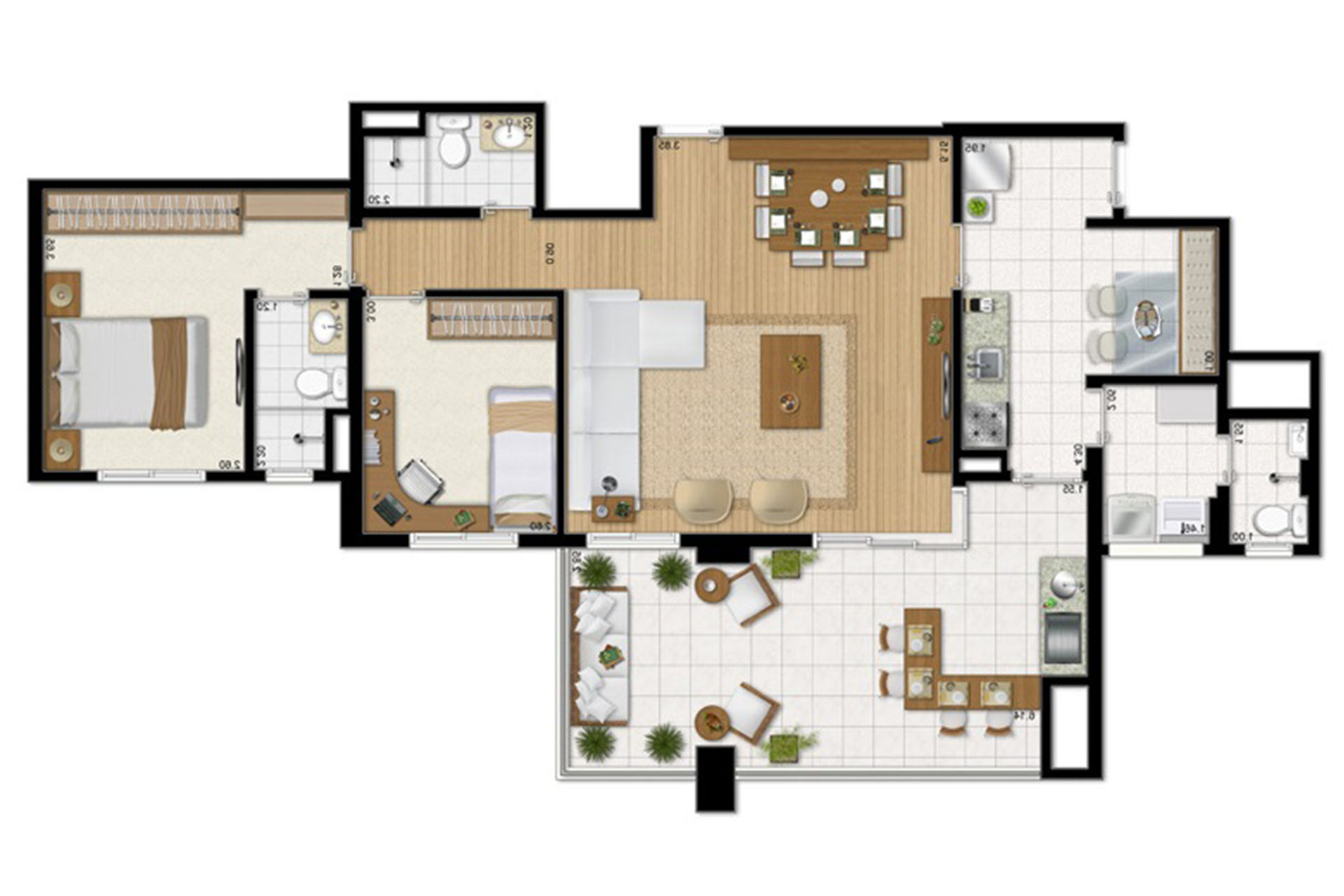 O In Cio A Cozinha Apartamento 203